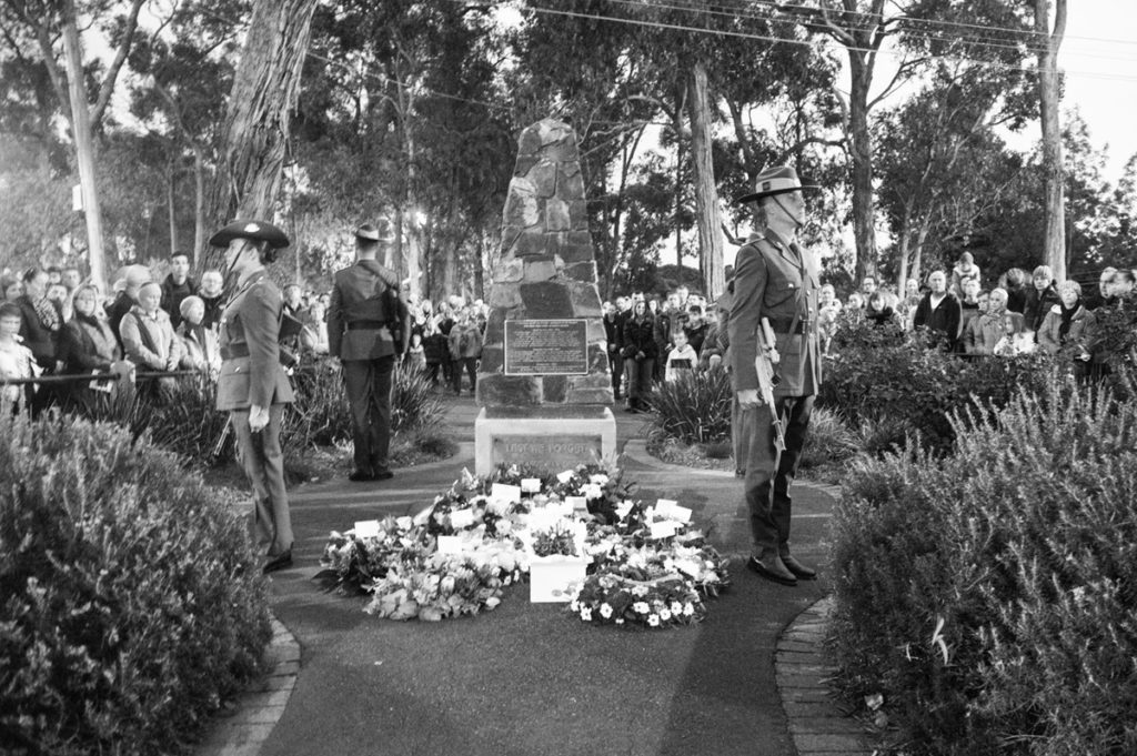 Anzac service at Mt Evelyn War Memorial. Photo by Greg Carrick