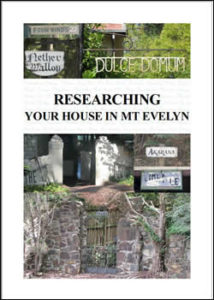 Researching your house in Mt Evelyn
