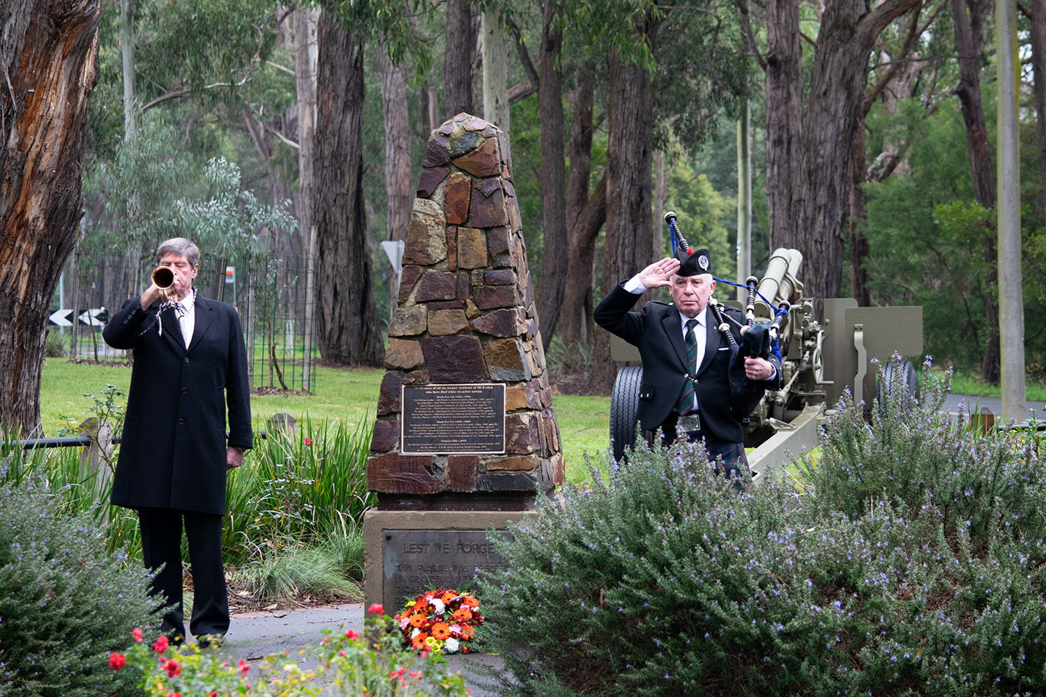 Mt Evelyn rsl service in memory of Frank Larkin