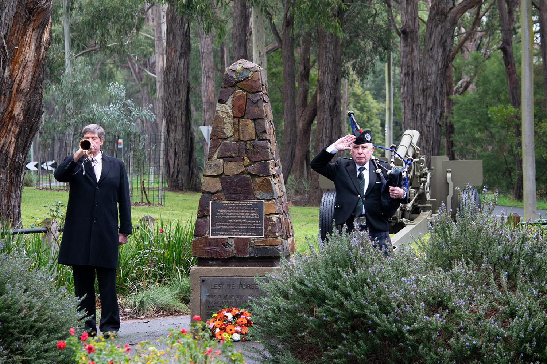Mt Evelyn rsl service in memory of Frank Larkin